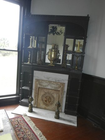Sabal Palm Sanctuary: Fireplace
