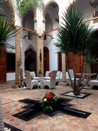 Riad Kalaa : The ground floor courtyard - the heart of the hotel