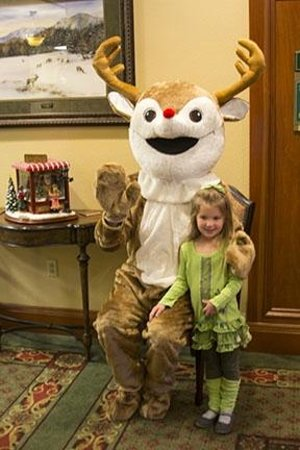 The Inn at Christmas Place: Rudolph greets my granddaughter