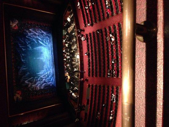 Wortham Center : Inside seating taken from balcony