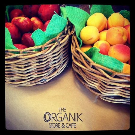 The Organik Store & Cafe: Stone fruit are in