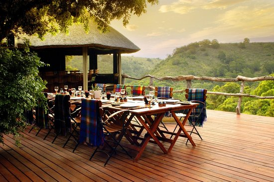 Lalibela Game Reserve: Outdoor dining at Tree Tops