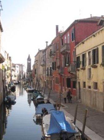 Casa Rezzonico yellow building on the right