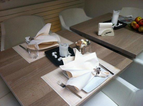 Gourmet-Hotel Zur Post: Table du petit-déjeuner