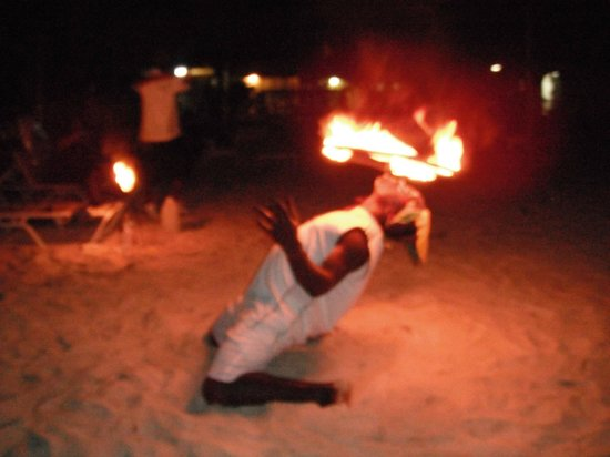 "Our Past Time Villas : The ""Fire Man"" great entertainment."