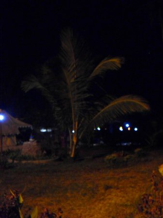 Five Five Restaurant and Guest Tents: Outside, the waves and chirping crickets drown out the bass of the clubs a mile down the beach
