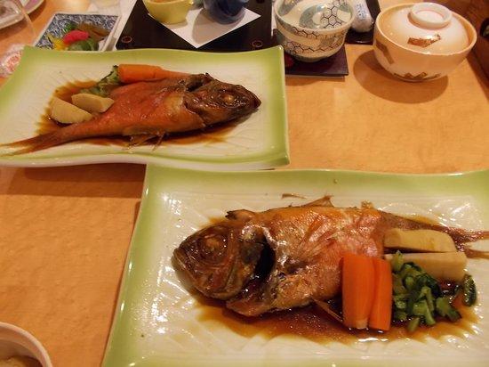 Dogashima Onsen Hotel: 金目鯛の煮付け