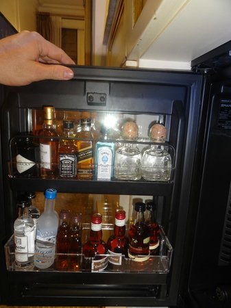 The Plaza: In room bar selection