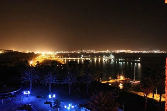 Prima Music : вид на город и залив ночью