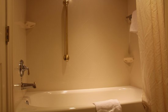 Hampton Inn Buffalo-Williamsville: Spotless & shiny shower/tub