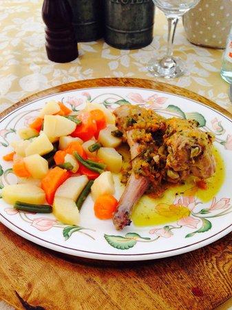 Osteria Di Largo Kennedy : Coniglio e verdure lesse