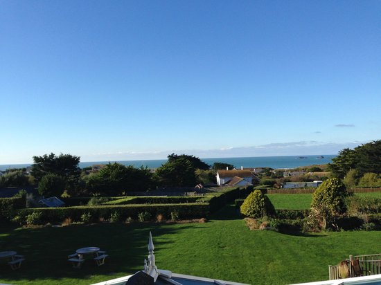 Treglos Hotel: View from balcony