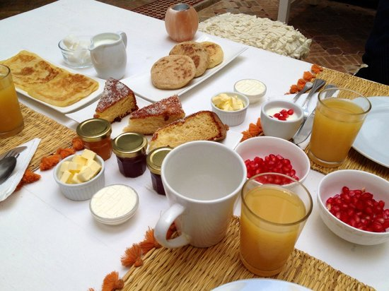 Riad les Orangers d'Alilia Marrakech: Aperçu du petit déjeuner