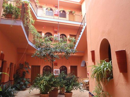 Hotel Patio de la Alameda: un patio en hiver