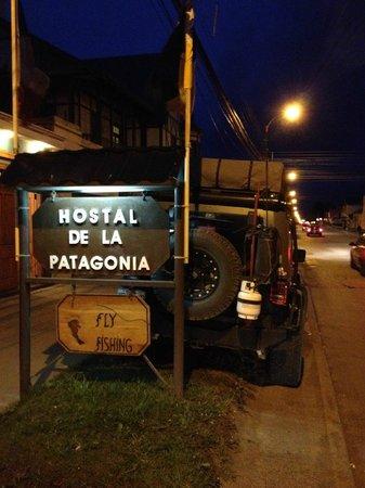 Hostal de la Patagonia: Don't think we could have parked closer!