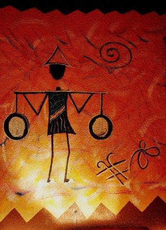 Le Savana: wall painting at the Savana