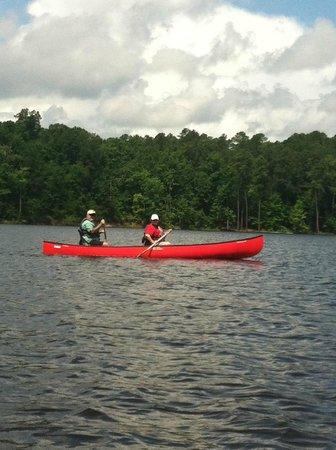 Falls Lake State Recreation Area : Canoeing near Beaver Dam in July 2013
