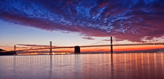 Omni San Francisco Hotel: Bay Bridge Sun Rise