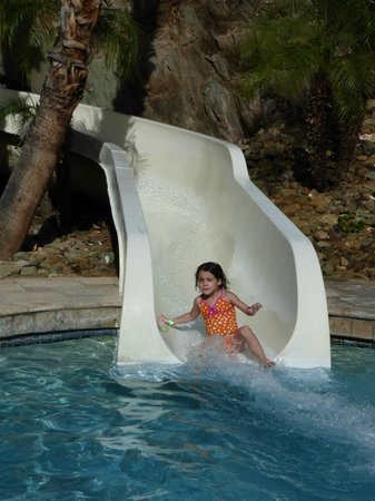 Pointe Hilton Squaw Peak Resort : chloe down the slide - 1st place finish