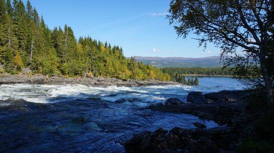 Buustamons Fjallgard : Tännforsen, närliggande vattenfall