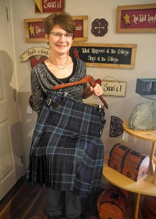 Gaelic College : Our kiltmakers are always busy! Here's Jenni MacLean and her very first hand-sewn kilt