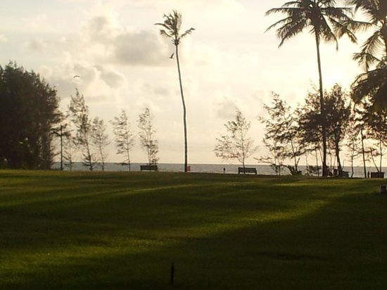 Kenilworth Resort & Spa: the juxtaposition of the green lawns with the blue beach beyond