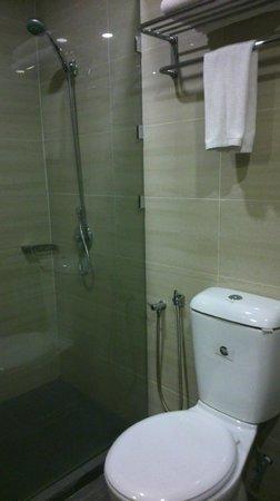 Hotel Sentral Melaka: Toilet & shower