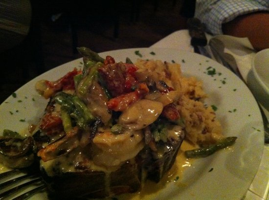 Rockafellas : Veal Shank topped with Shrimp