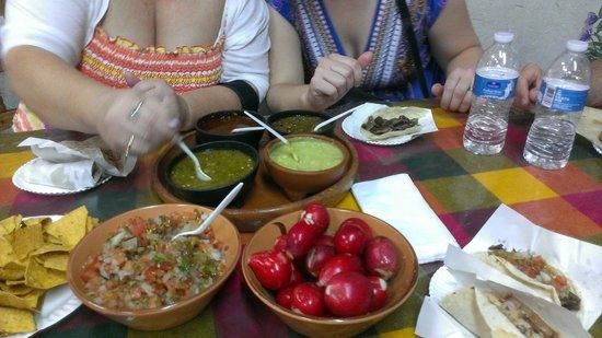 Taqueria Mexico Lindo : Salsas.