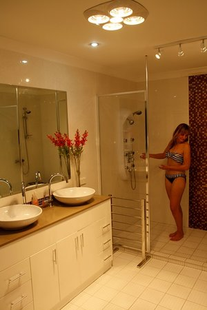 Astoria Retreat Bed and Breakfast: Massage shower