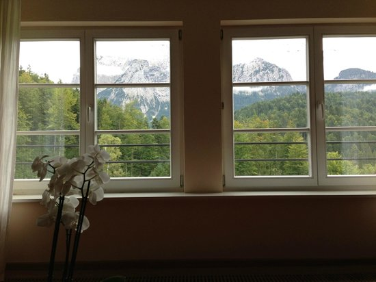 Schloss Elmau: View from my 1st room