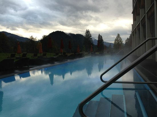 Schloss Elmau: Another day another view of the pool