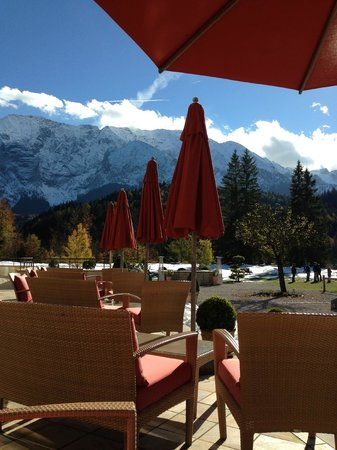 Schloss Elmau: inside outside dining in one of the five restaraunts
