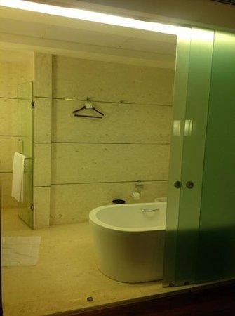 The Westin Chennai Velachery: big toilet n tub!