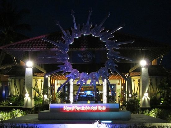 Entrance of Hard Rock Hotel Bali