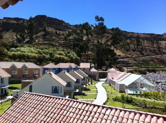 Aranwa Pueblito Encantado del Colca: Vista del mirador a las Habitaciones y el SPA