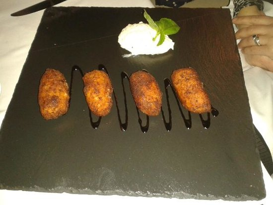 Avalon: Croquettes of smoked cod served with a horseradish dressing.