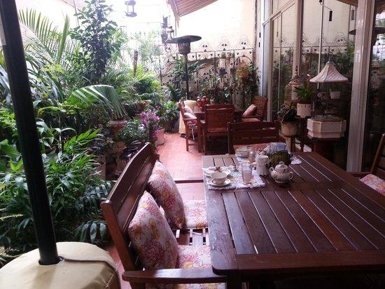 Hostal L' Antic Espai : Bonita terraza