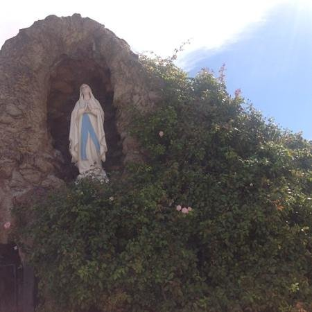 San Carlos Cathedral: Our Lady Of Lourdes Grotto outside of church
