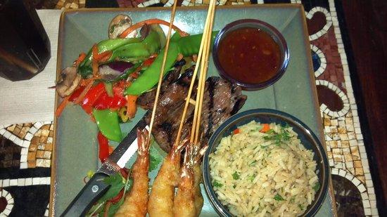 Yak and Yeti: Steak and Shrimp