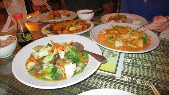 Sombat's Fresh Thai Cuisine: Three different dinners at Sombat's