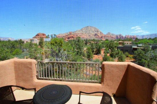 Alma de Sedona Inn Bed & Breakfast: view from upper room