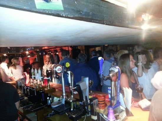 The White Hart: busy
