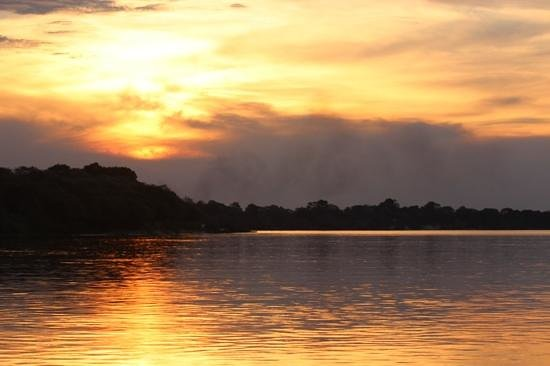 Caprivi Houseboat Safaris: Our sundowner from the boat