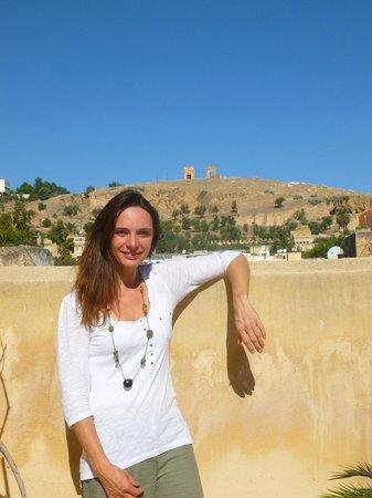 Riad Dezayn: Vue de la terrasse sur les tombeaux mérinides