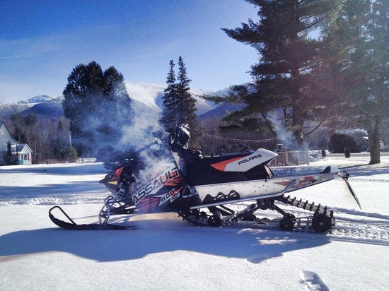 Mount Jefferson View: Snowmobile parking is available!  We also have direct access to corridors 11 and 12.