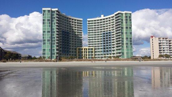 Avista Resort: view from the beach