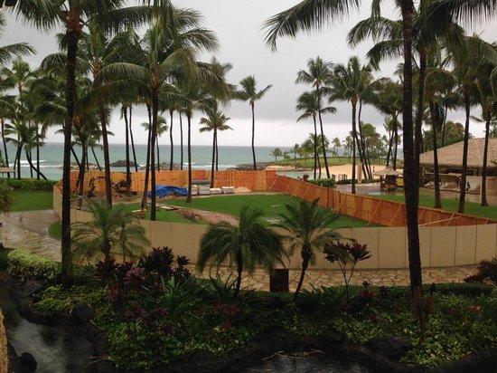 Marriott's Ko Olina Beach Club: Fia Fia new stage construction