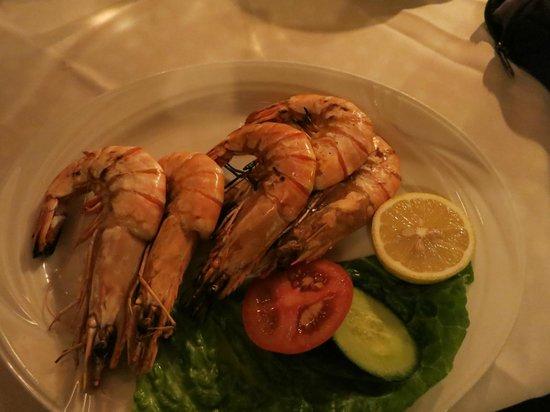 Taverna Napa: King prawns - frozen and dry