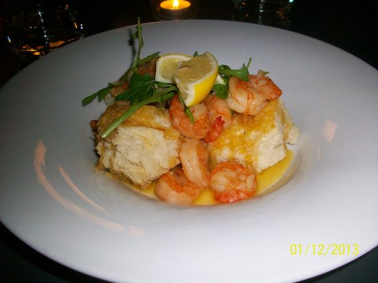 Marina Ristorante : King prawn with ginger and garlic with bruscetta